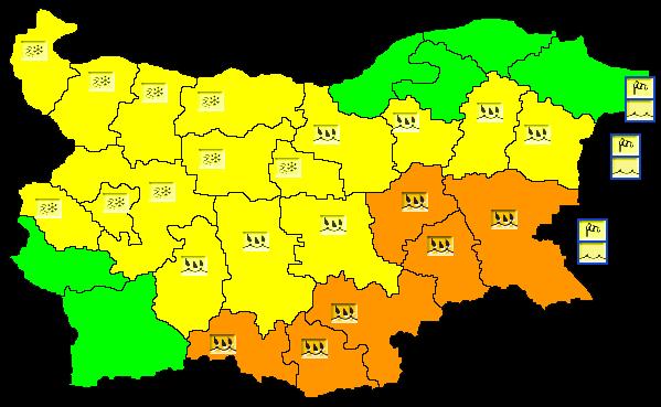 Валежите от дъжд ще продължат! По-силни ще са до сутринта. Оранжев код е обявен отново за 6 области. Това са Ямбол, Сливен, Бургас, Хасково, Кърджали и...