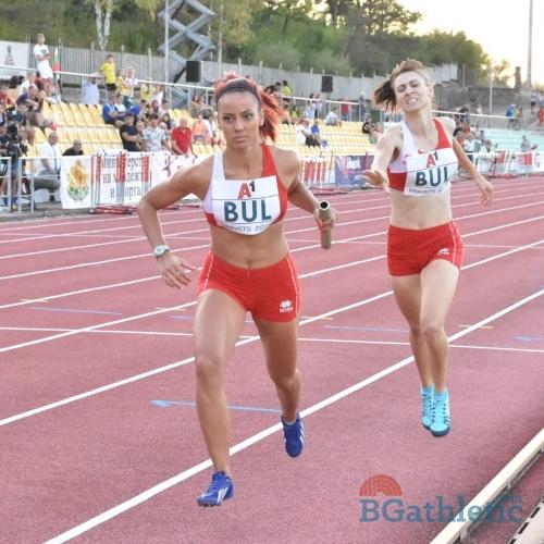 Със сребърен медал в щафетата 4 Х 400 метра се завърна от Балканиадата по лека атлетика...