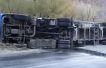Пореден инцидент в Айтос: Пиян шофьор на ТИР предизвика катастрофа