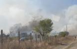 Пожар край газови бутилки в Бургаско (видео)