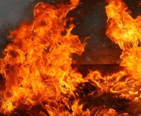 Пожар обхвана голяма площ край Котел