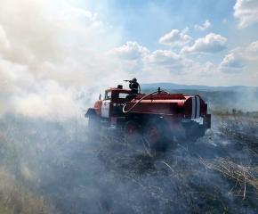 Пожарът край Лесово вече е овладян (видео)