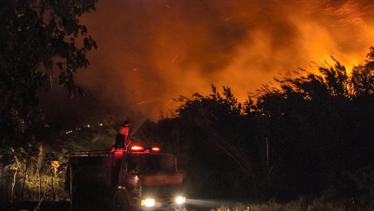 """Сливенски пожарникари са спасили 4 къщи от пожар в местността """"Дъбака"""". Сигналът е получен в 19,40 часа. Произшествието е ликвидирано своевременно от един..."""