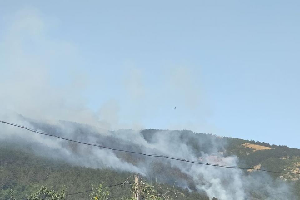 Продължава гасенето на пожара в борова гора край Твърдица, съобщи за БТА областният управител на Сливен Минчо Афузов. През цялата изминала нощ пожарни...