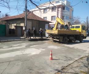 Ремонт на канализация спря водата в част от центъра на Ямбол