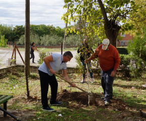 В село Завой се проведе кампания по засаждане на дръвчета и храстчета