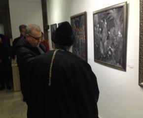 Сливенски светини в картини от метал представят в галерия