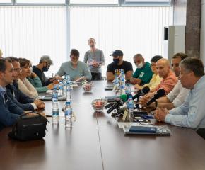 Среща на ръководството на Община Ямбол и кмета на Община Тунджа с представители на СЗО