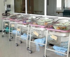Три бебета се родиха в болницата след полунощ до сутринта на 1 януари 2021 г.