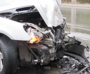 Три коли се сблъскаха на пътя София - Варна, има пострадали