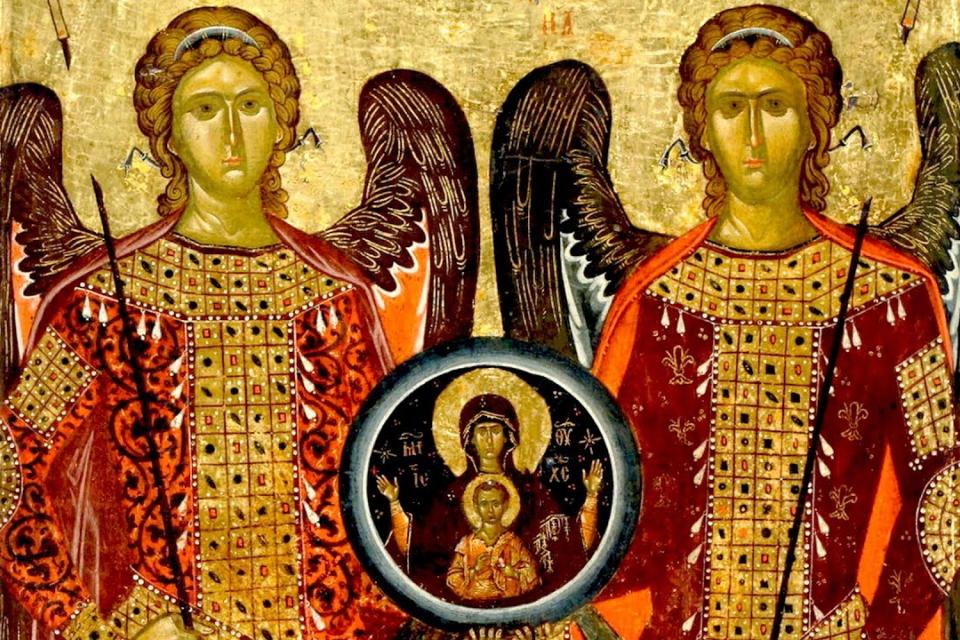"""Името е от еврейски произход и означава """"Божия сила"""". В християнската традиция архангел Гавраил се свързва най-вече с Благовещението. Бог изпратил..."""