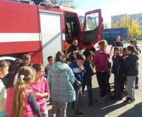 Урок по пожарна безопасност в Болярово