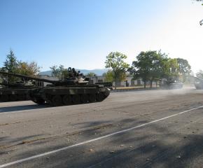 Военно формирование 22220-Сливен чества 70 години от връчването на бойното знаме