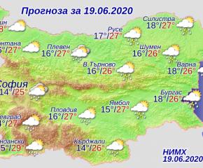 Временно интензивни валежи с условия за градушки и днес
