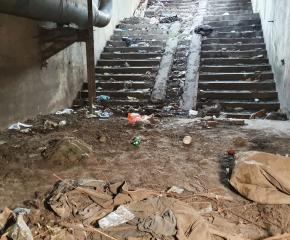 """Започна почистване и възстановяване на подлеза към бившето предприятие """"Ягода"""""""