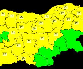 Жълт код за бурен вятър в почти цялата страна