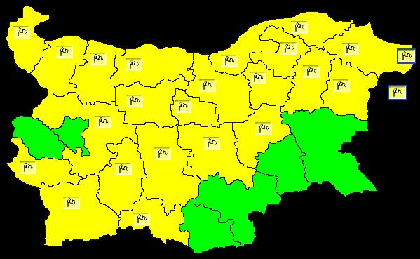 Жълт код за бурен вятър в почти цялата страна е обявен днес. Поривите на вятъра е възможно да достигнат повече от 86 км/ч. Препоръчително е всички предмети...