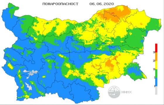 Жълт до оранжев код за пожароопасност е обявен за днес за Югоизточна и част от Северна България. Това сочи справка на официалния сайт на Националния институт...