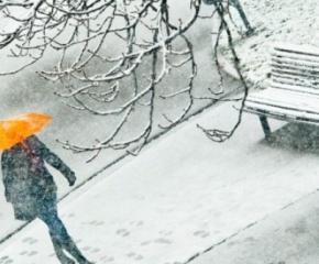 Жълт код за силен снеговалеж и вятър е обявен за 8 области, градусите падат до 0°С