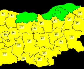 Жълт код за силен вятър е обявен в 24 области