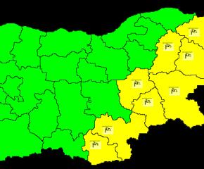 Жълт код за силен вятър в Ямбол, Сливен и още 6 области