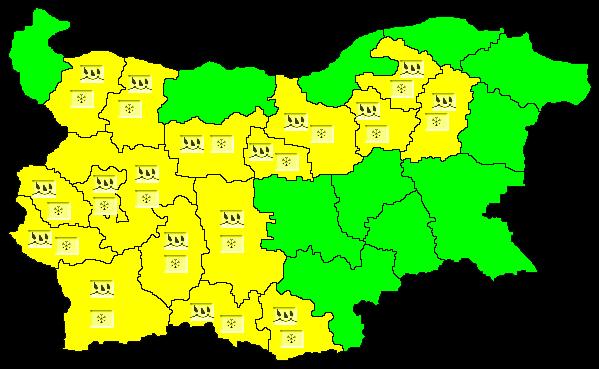 Днес ще бъде облачно. Започналите през нощта в северните райони валежи от дъжд, през деня ще обхванат и Южна България. С умерен северозападен вятър ще...